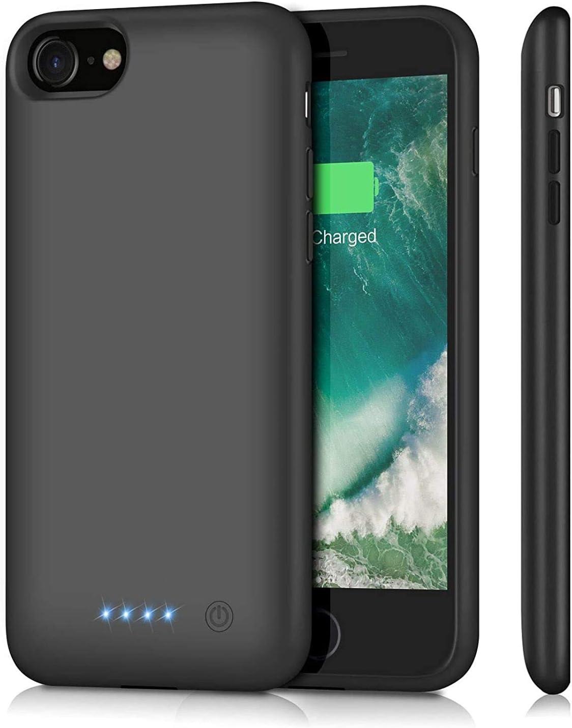 Ekrist Funda Batería para iPhone 7/8/6/6s, 6000mAh Funda Cargador Portatil Ultra Capacidad Carcasa Batería Recargable Batería Externa para iPhone 7/8/6/6s [4.7 Pulgadas]