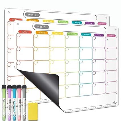 Calendario de borrado en seco, juego de calendario magnético para ...