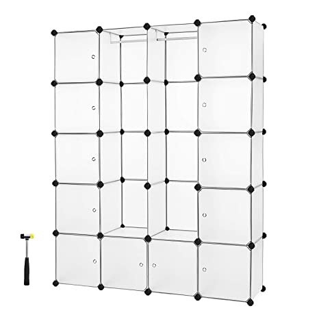 Songmics Armario de almacenaje de ropa Estantería por módulos (estructuras de cubo con puerta,