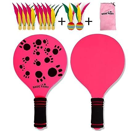 NUEVO kit de raquetas palas badminton playa con pelotas con ...