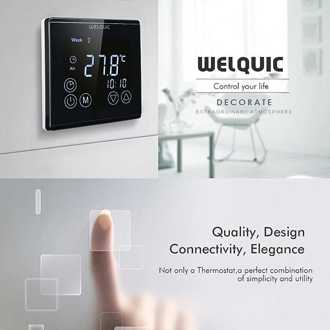WELQUIC Raumthermostat für elektrische Fußbodenheizung Wandheizung ...