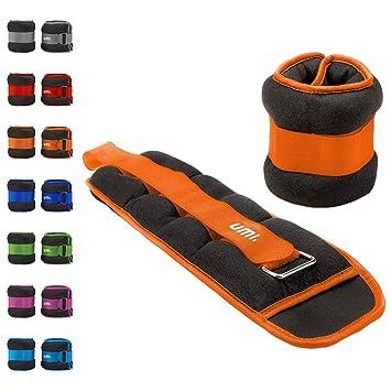 Essentials - Pesas lastradas para tobillos y muñecas con tira ajustable, 2,7 kg (naranja): Amazon.es: Deportes y aire libre