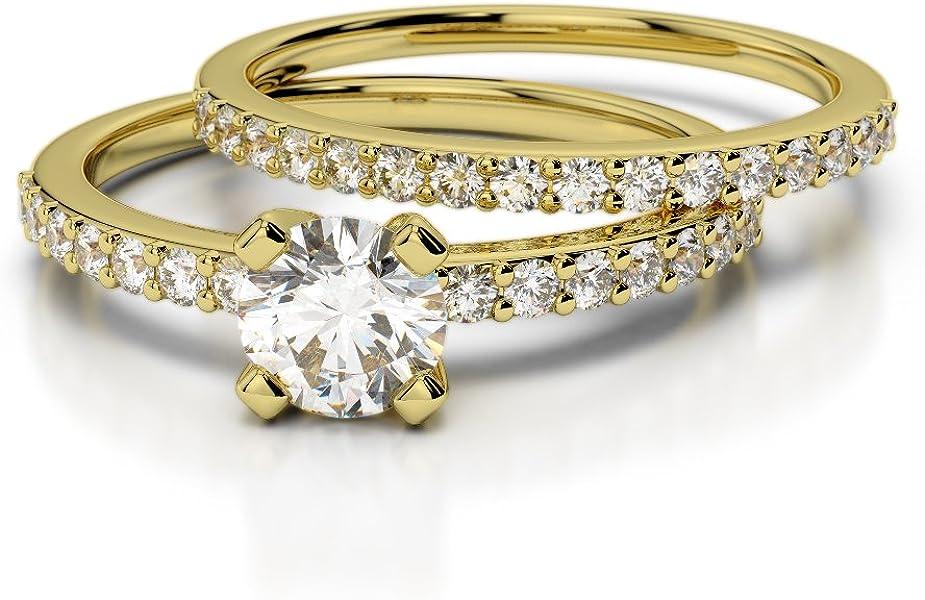 Oro rosa/oro blanco/oro amarillo/Platinum Diamond Juego de Anillos ...