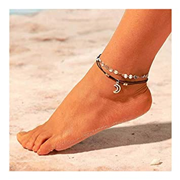 Ladies Chain Ankle Double Foot Bracelet Anklet Jewelry Beach