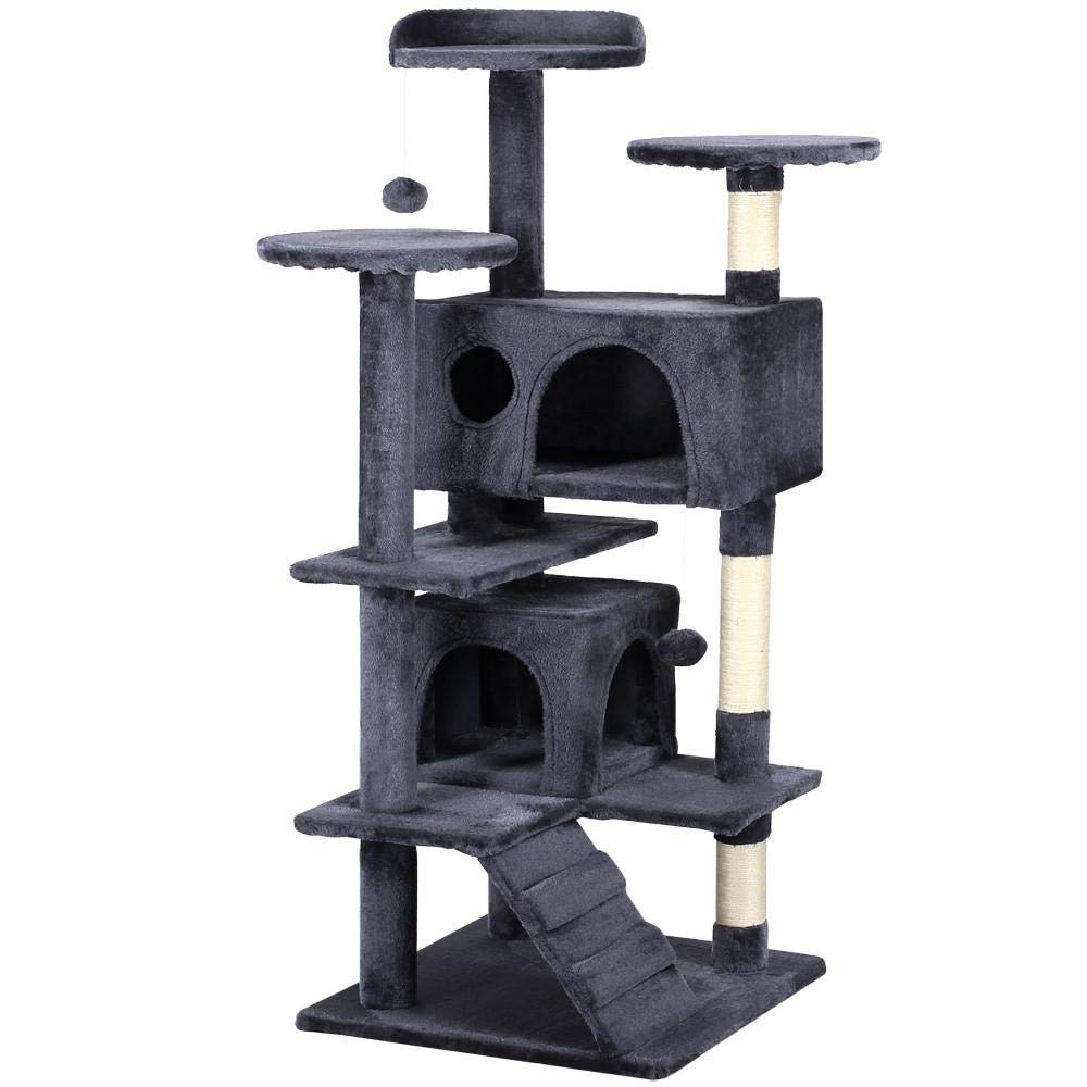 Amazon Com Yaheetech 51 Multi Level Cat Tree Scratcher Condo