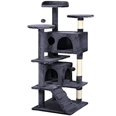 Yaheetech 51  Cat Tree Tower Condo Furniture Scratch Post for Kittens Pet House Play