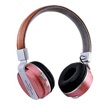 Docooler Bluetooth 4.2 Auriculares estéreo inalámbricos Auriculares plegables sobre el oído 3.5mm AUX En la