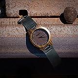 Oct17 Luxury Men's Walnut Wood Fashion Bamboo Wooden Watch Quartz Genuine Leather Japanese Quartz Movement Casual Dark Brown Wristwatches