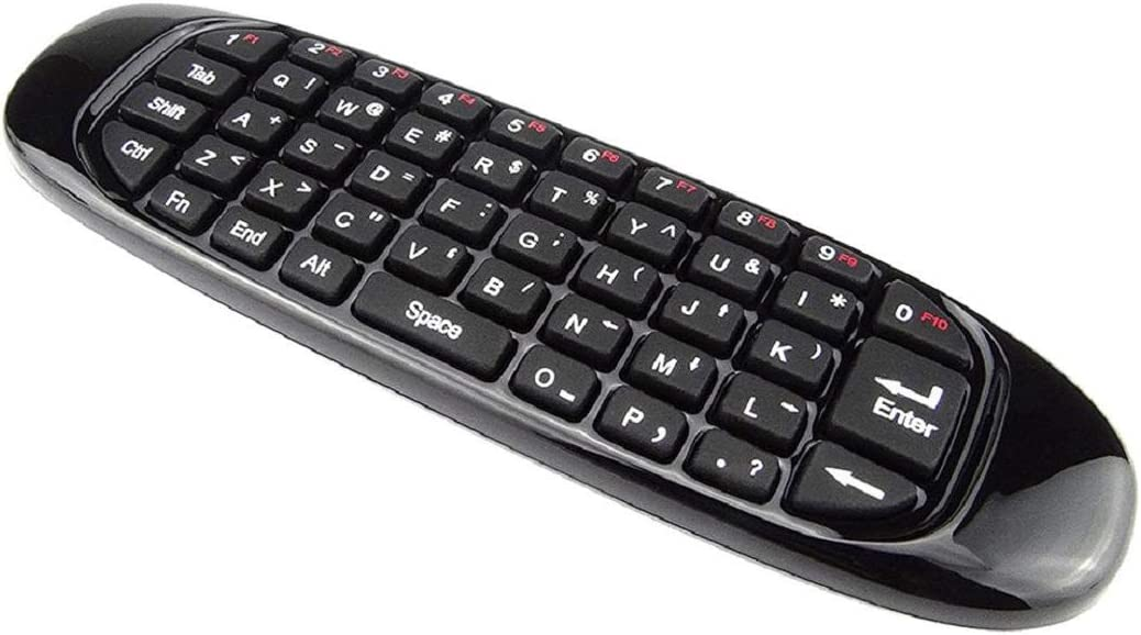 Vaycally Multifuncional 2.4G Inalámbrico Mini Air 1000Dpi Mouse Keyboard Remote Controlador de Teclado Multimedia Portátil de Doble Cara para Smart TV Mini Computadora
