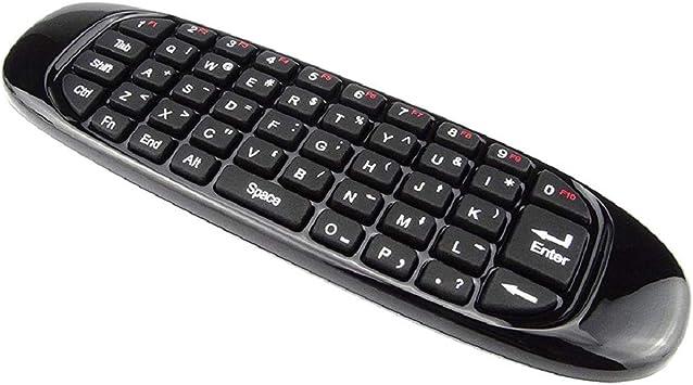 Vaycally Multifuncional 2.4G Inalámbrico Mini Air 1000Dpi Mouse Keyboard Remote Controlador de Teclado Multimedia Portátil de Doble Cara para Smart TV Mini Computadora: Amazon.es: Electrónica