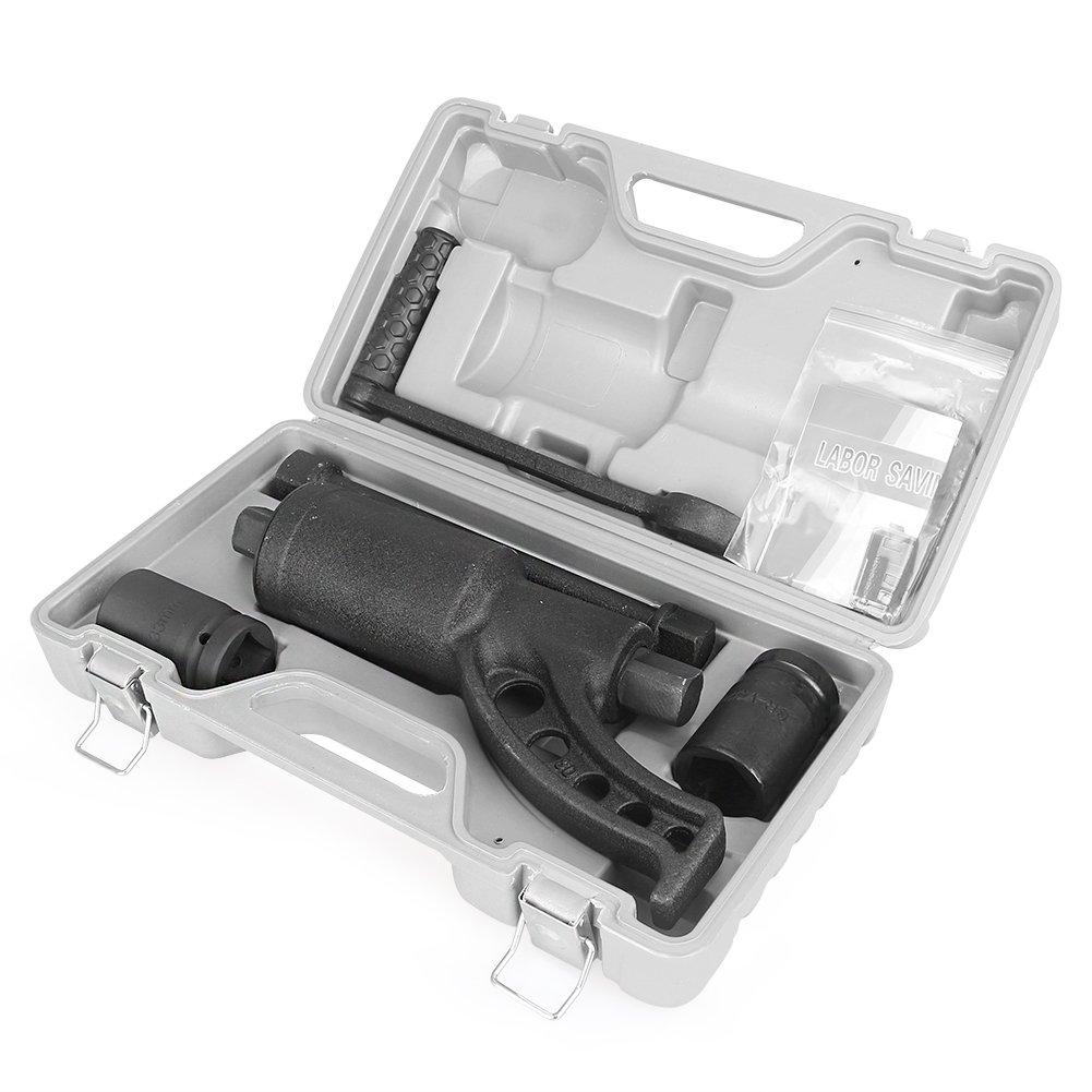 MALLOFUSA Heavy Duty Torque Multiplier Wrench Set 4800N/M Lug Nut Wrench Labor Saving Lugnuts Remover Semi Socket W/Case