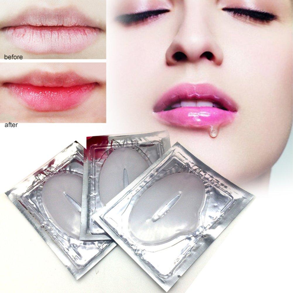 gstone Bálsamo Collagen Lip Mask hidratantes Esencia labio Cuidado exfoliante anti-edad Arrugas Patch Pad Gel Labios Tratamiento Cristal labio Cuidado anti-arrugas