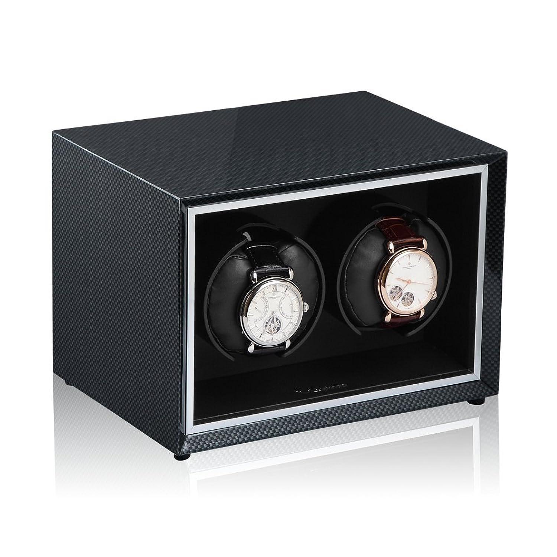 Luxwinder Uhrenbeweger Stella fÜr 2 Automatikuhren in carbon design  430281