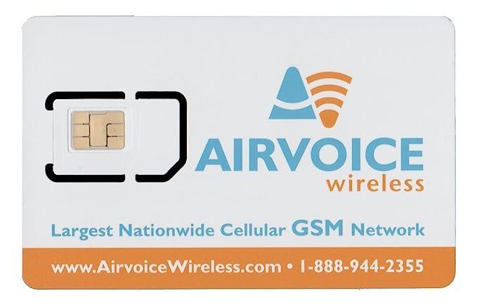 Amazon.com: airvoice inalámbrico tarjeta SIM unactivated