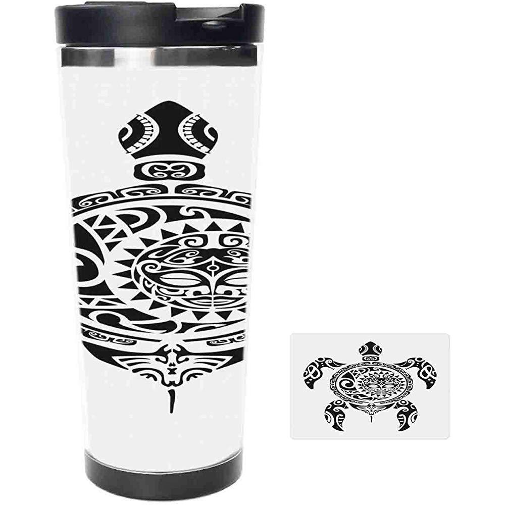 Vaso De Viaje-Diseño Tribal Del Tatuaje Del Estilo Maorí Trópico ...