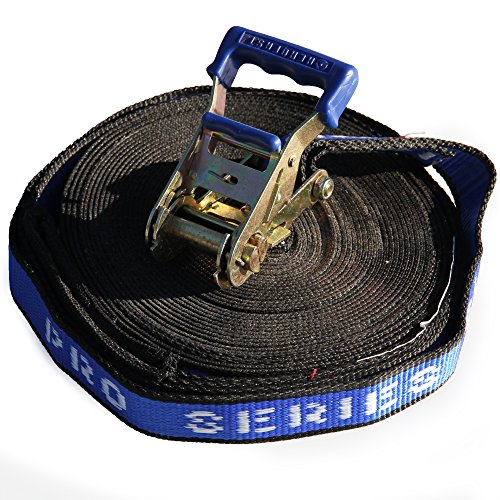 Pro Series Blue Slackline 1.5inch x 50ft (37mm x 15m) by Home of Poi