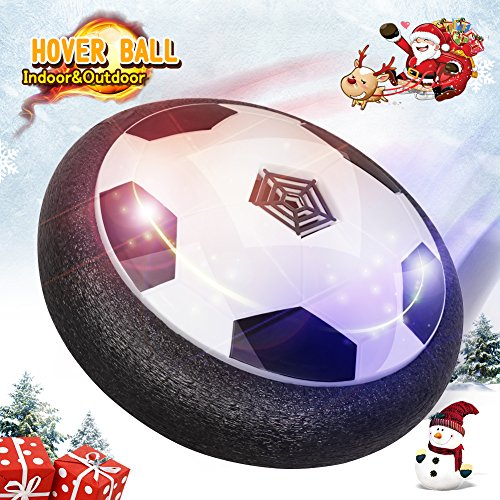 Hover Soccer Ball Kids Toys Rolytoy Toy Soccer Ball Size 4  Air Power Electric Disk Training with LED Light and Foam Bumpers Sports Toys Boys Girls for Indoor Outdoor Activities Game