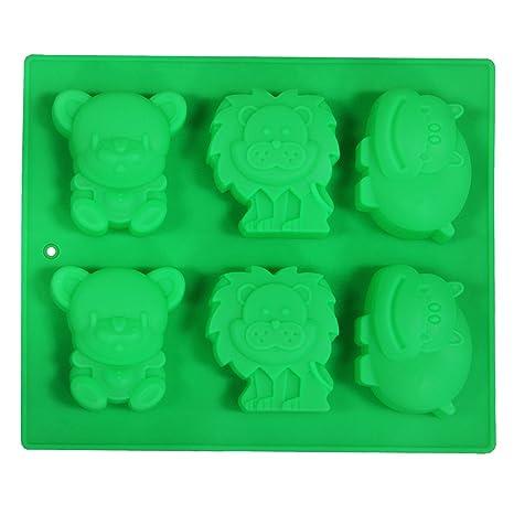 Juvale Candy molde – para repostería molde – moldes de silicona (leones, hipopótamos y