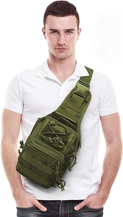 MOSISO Taktisch Sling Brusttasche Einzelner Schulter Rucksack Military Army A...