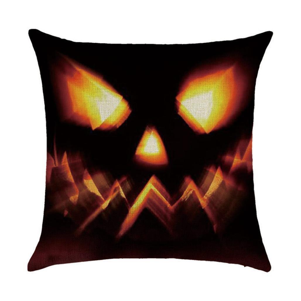 Challyhope Funny Throw Pillow Cases Linen Sofa Cushion Cover Home Decor (K)