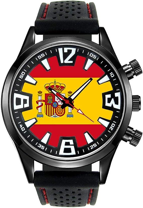 Timest - Bandera de España - Reloj para Hombre con Correa de ...