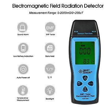EffulxS - Detector de radiación electromagnética, Mini Detector de radiación Digital LCD EMF: Amazon.es: Electrónica