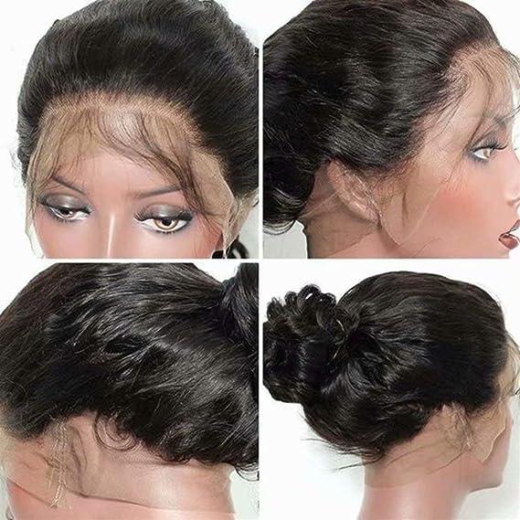 Maxine 360 - Peluca con malla frontal con pelo de bebé, ondulado ...