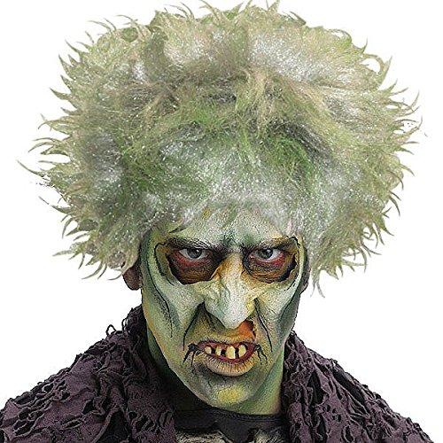 Zombie Undead Halloween Evil Demon Wig – Green