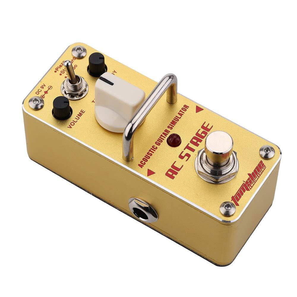 AAS-3 AC Stage Simulador de guitarra acústica Mini único pedal de ...