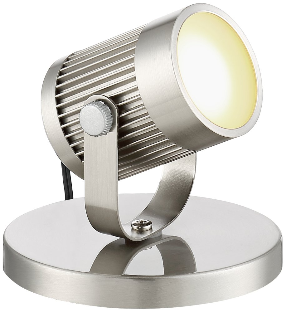 Downey Brushed Steel 2 3/4'' High LED Uplight