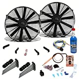 Zirgo 264106 Super Cool Pack (Two 1149 fCFM 10'' Fans, Adjustable Temp Switch, Harness, and Brackets and Additive)