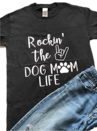 00334042d1 hiphop tees Rockin' The Dog Mom Life, Dog Mom Shirt, Dog Lover Shirt ...