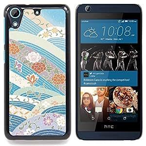 For HTC Desire 626 & 626s - sky flowers blue tones /Modelo de la piel protectora de la cubierta del caso/ - Super Marley Shop -