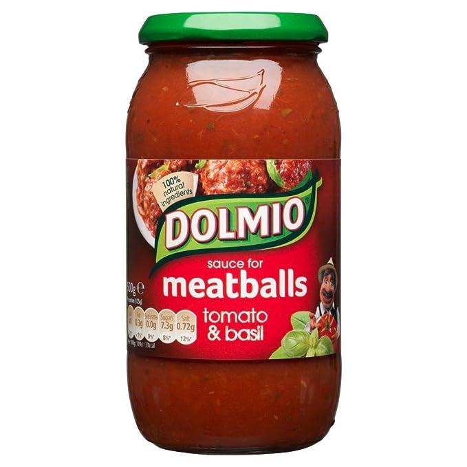 Dolmio - Salsa de tomate y albahaca para albóndigas - Bote de 500 g