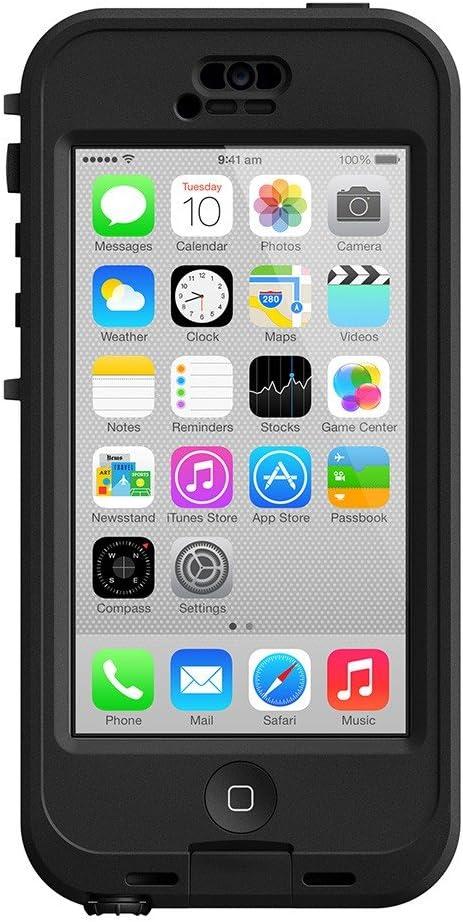 LifeProof NÜÜD iPhone 5c Waterproof Case - Retail Packaging - BLACK/CLEAR