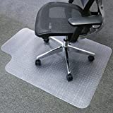 Mysuntown Carpet Chair Mats, PVC Vinyl Chair Mat for Carpeted Floors with Lip, Transparent Desk Chair Mat - 48 X 52 inch Standard Pile Carpet,Fits for Office and Home