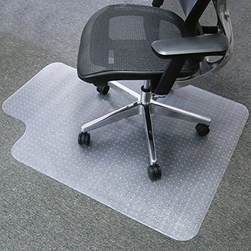 (Mysuntown Carpet Chair Mats, PVC Vinyl Chair Mat for Carpeted Floors with Lip, Transparent Desk Chair Mat - 36 X 48 Inch Standard Pile Carpet)