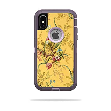 buy popular f6f14 2c398 MightySkins Skin for OtterBox Defender iPhone X or XS Case - Yellow Marble  End | Protective, Durable, and Unique Vinyl Decal wrap Cover | Easy to ...