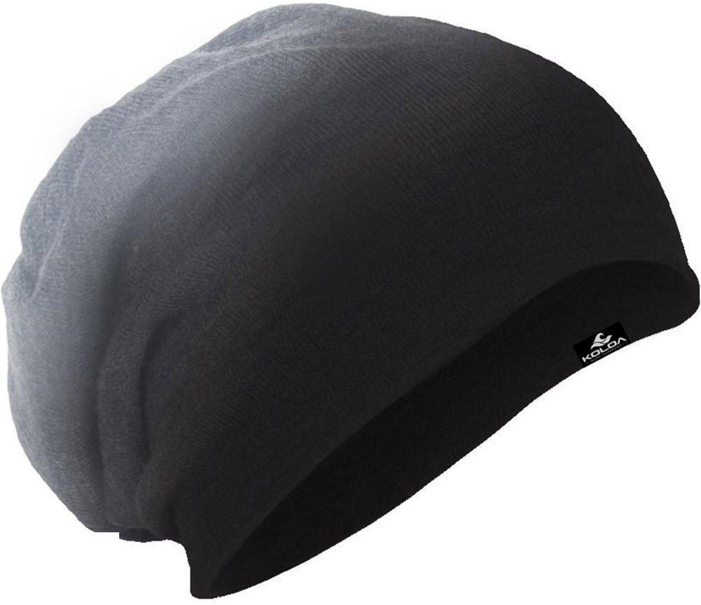 Koloa Surf(tm)Slouchy Beanie Black Dip Dye, One Size