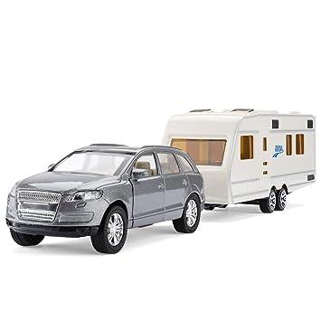 Mighty Motors Toyrific Die-Cast Car and Caravan