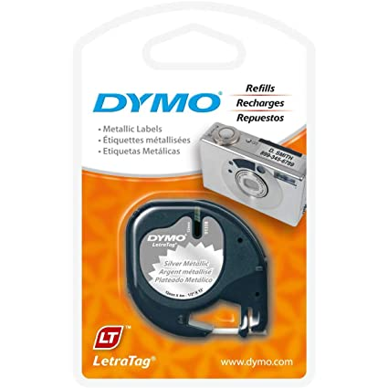 DYMO LetraTag Labeling Tape for LetraTag Label Makers, Black