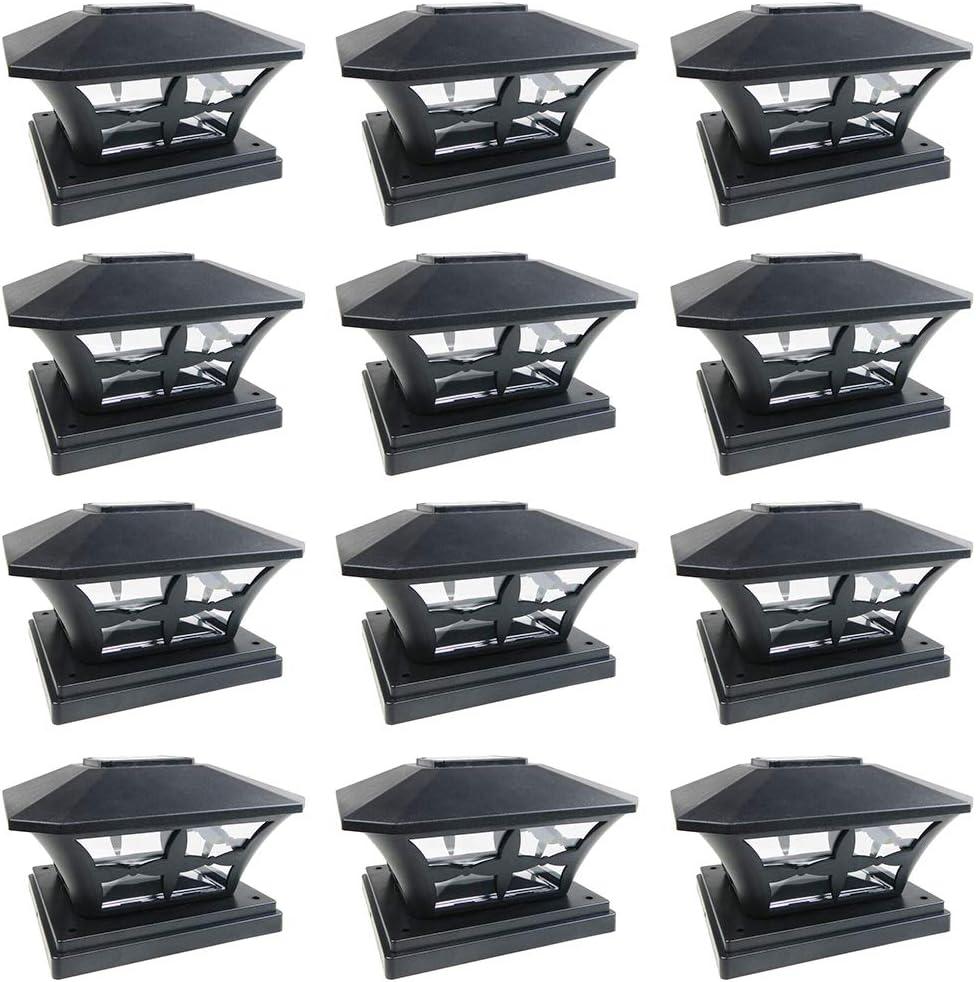 Iglow 12 Pack Solar Post Lights