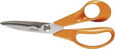 Fiskars Tijeras Universales S92, 18 cm, Acero inoxidable/Plástico, Clásicas, Naranja, 1000555: Amazon.es: Jardín