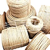 24mm, NEW NATURAL SISAL ROPE COILS, GREAT FOR CAT SCRATING POSTS, DECKING PROJECTS! PER METER by Falcon Workshop Supplies