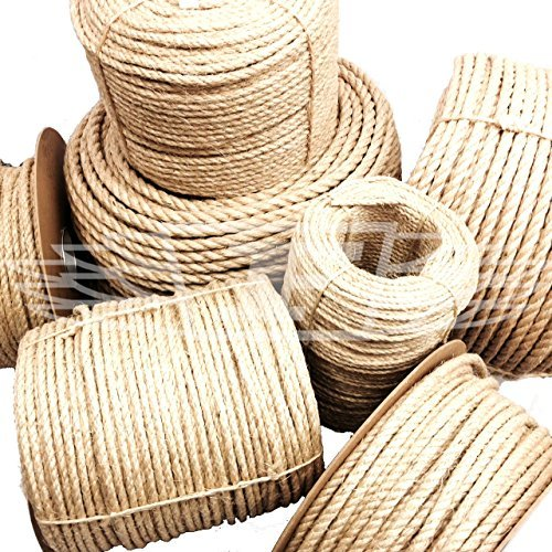 24mm, NEW NATURAL SISAL ROPE COILS, GREAT FOR CAT SCRATING POSTS, DECKING PROJECTS! PER METER by Falcon Workshop Supplies by Falcon Workshop Supplies
