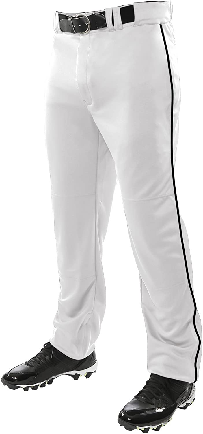 CHAMPRO Unisex Sports Youth Triple Crown Open Bottom Piped Pants: Clothing