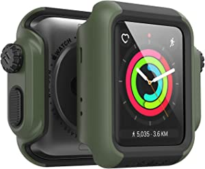 Catalyst Designed for Apple Watch Impact Case 42mm Series 3 & 2 Rugged Protective Case, Drop Proof Shock Proof Impact Resistant Designed for Apple Watch Case, Army Green