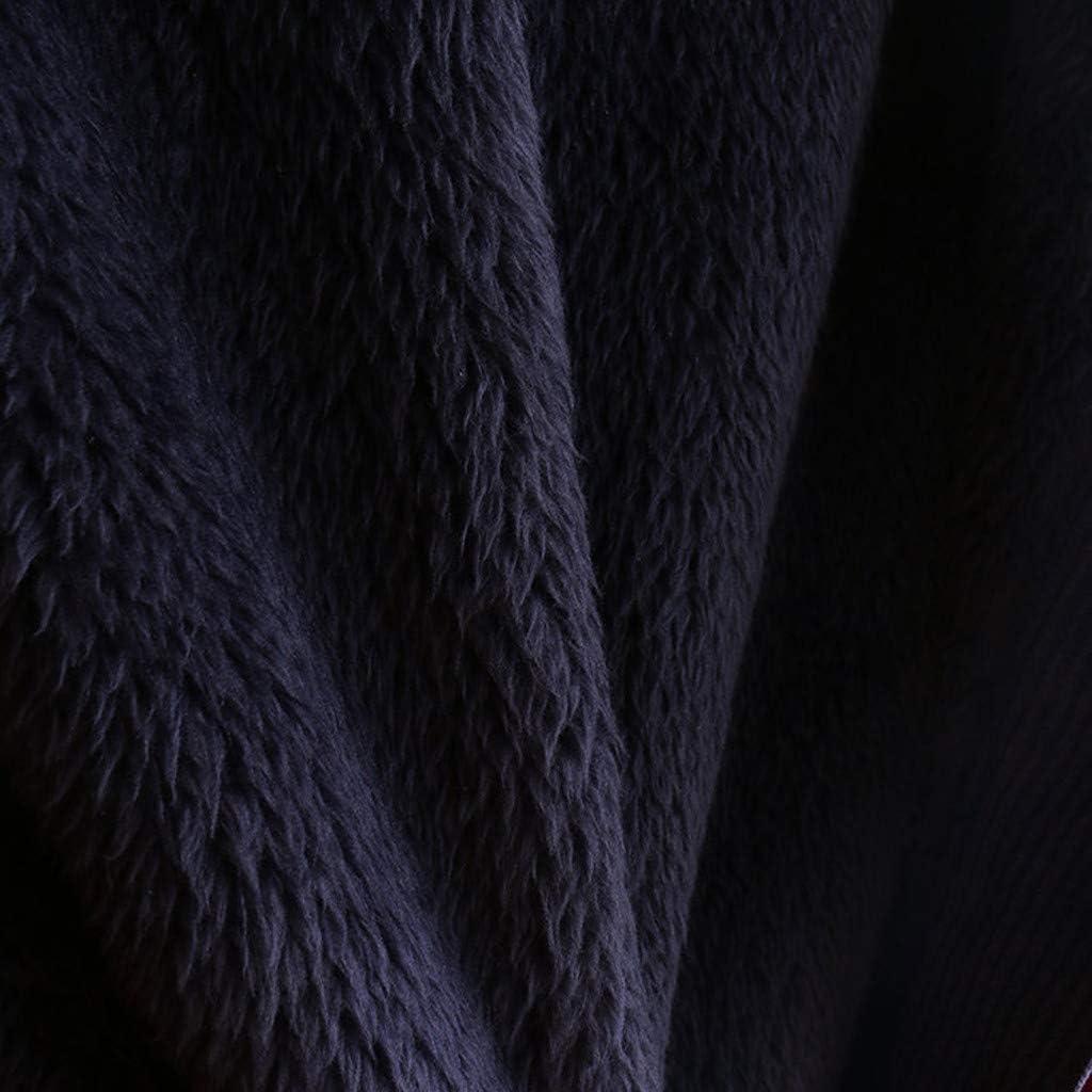 Sunnywill Damen Kapuzenpullover Winterjacke /üBergangsjacken /ÜBergangs Outdoorjacken Corduroy Winddichter Wintermantel Flauschige Kapuze Lose Mantel Pl/üsch