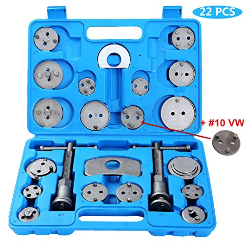 Ztech 22pcs Heavy Duty Disc Brake Caliper Tool Set and Wind Back Kit for Brake Pad (Caliper Replacement Brake Pads)