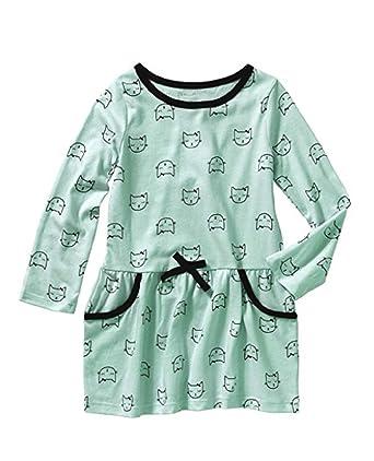 0d9917a4d Amazon.com  Healthtex Toddler Girls Long-Sleeve Knit Dress- Kitty ...